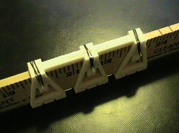 "TrackToolz 1 1/2"" Track Spacing Jigs in White Natural Versatile Plastic"