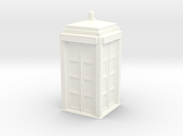 The Physician's Blue Box in 1/35 scale (complete) in White Processed Versatile Plastic