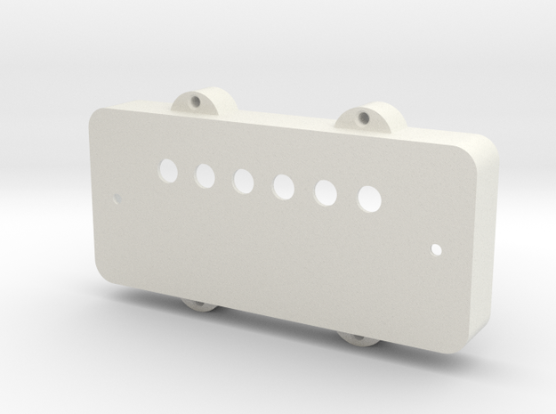 Jazzmaster Pickup Cover - Covered Humbucker Mount in White Strong & Flexible