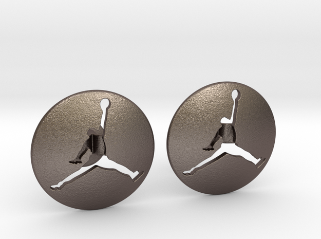Jumpman Cufflinks v3 in Stainless Steel