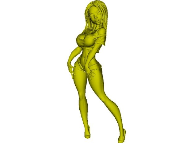 650mm scale striptease sexy girl figure