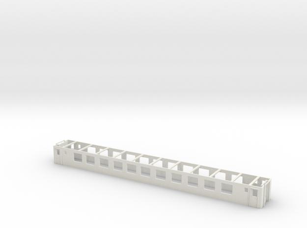 SBB CFF FSS Bpm 51 Mittelteil 001 Scale TT  in White Natural Versatile Plastic: 1:120