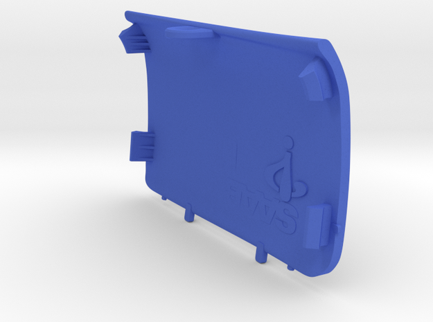 Rear-Left Saab Jack Point Cover in Blue Processed Versatile Plastic