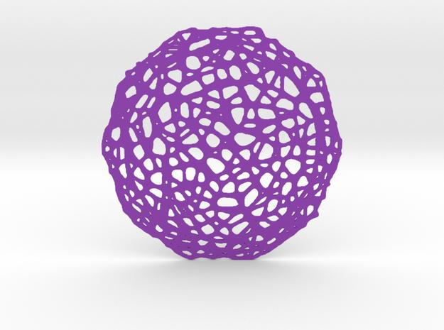 Drink coaster - Voronoi #7 (8 cm) in Purple Processed Versatile Plastic