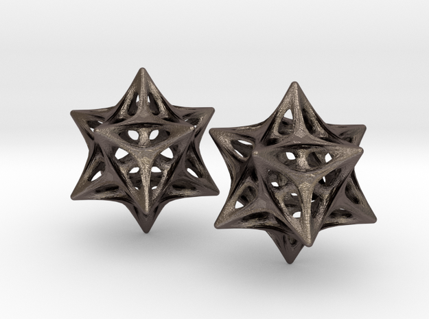 Softened Stellated Dodecahedron Star 3d printed