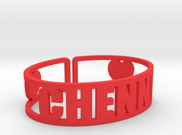 Chenny Cuff in Red Processed Versatile Plastic