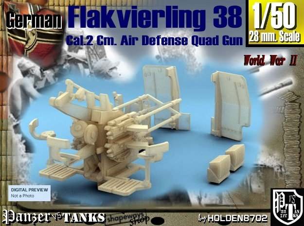 1-50 Flakvierling 38 For A-Wagen