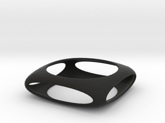 Bangle Box (Size M)  in Black Natural Versatile Plastic