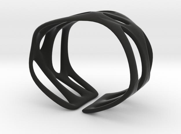 Cellular (size XS) in Black Natural Versatile Plastic