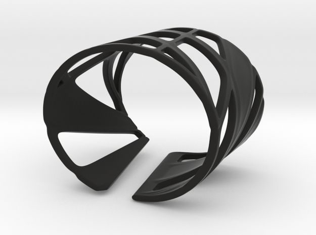 Trouble Bracelet (Size S) in Black Natural Versatile Plastic