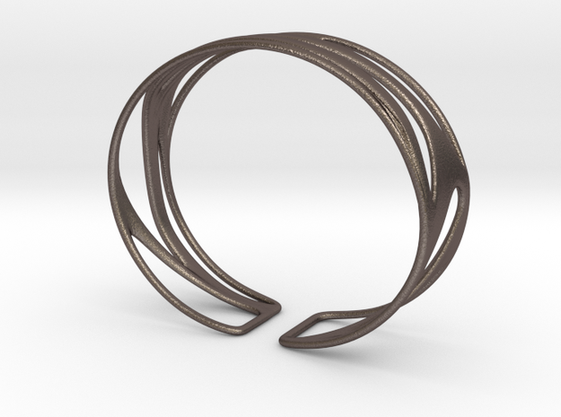 Inspired Curves size M in Polished Bronzed Silver Steel