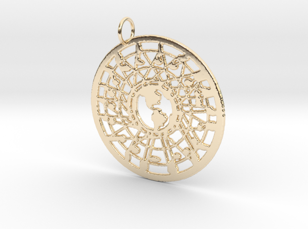 'Our World' Pendant in 14k Gold Plated