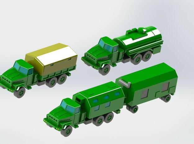 KRaZ 260 Trucks 1/285 6mm 3d printed