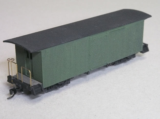 HOn30 30ft Milk Car 3d printed Painted model, with added trucks,coupler,brass handrails etc.