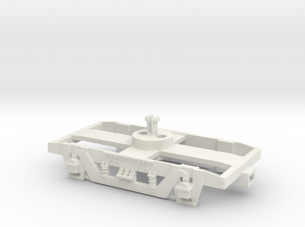 GWR 9' American Bogie Lima Fit  (for Bearings) in White Natural Versatile Plastic