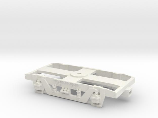 GW 9' American Bogie for bearings (SRMW Fit) in White Natural Versatile Plastic