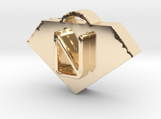 Letrabohock in 14K Gold