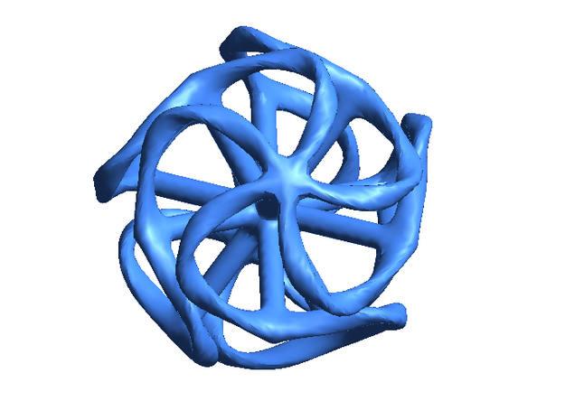 Dodecahedron Mesh in Blue Processed Versatile Plastic