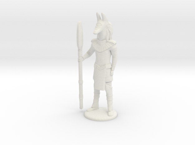Jackal Guard At Attention - 20 mm in White Natural Versatile Plastic