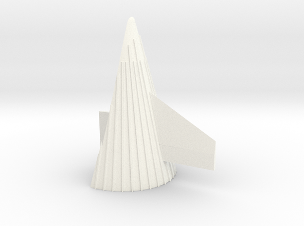 1/48 Saturn V fin Fairing with scale-correct fin in White Processed Versatile Plastic
