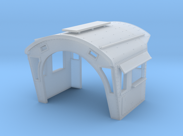 HO ATSF sport cab for steam loco in Frosted Ultra Detail