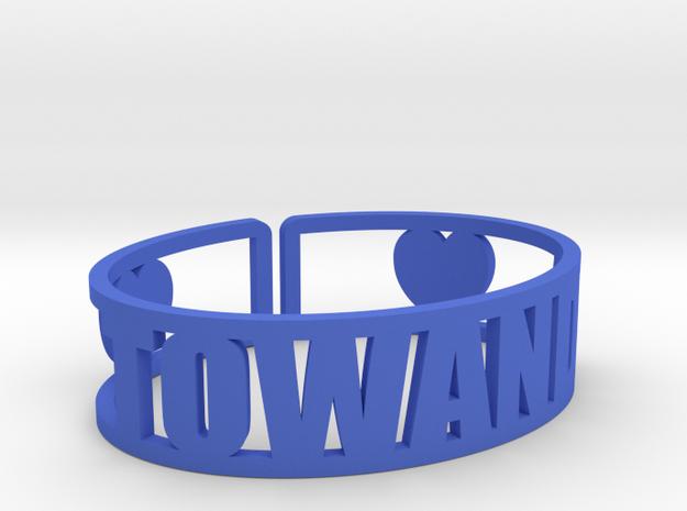 Towanda Cuff in Blue Processed Versatile Plastic