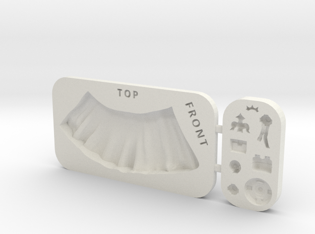 28mm Push mould - Customisable Half-Surcoat and ac in White Natural Versatile Plastic