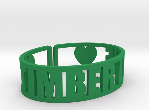 Timber Lake Cuff in Green Strong & Flexible Polished