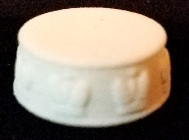 Chess King Base - 1 inch in White Natural Versatile Plastic