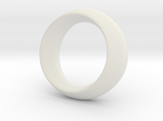 Opus Ring - Bracelet P=180mm in White Strong & Flexible