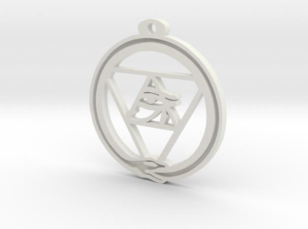 Tri Ouroboros Horus Pendant
