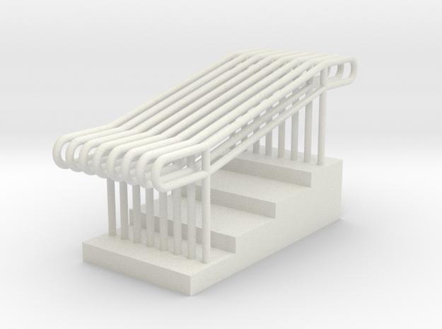 MOF Stair Rail(8)[72-1] in White Natural Versatile Plastic