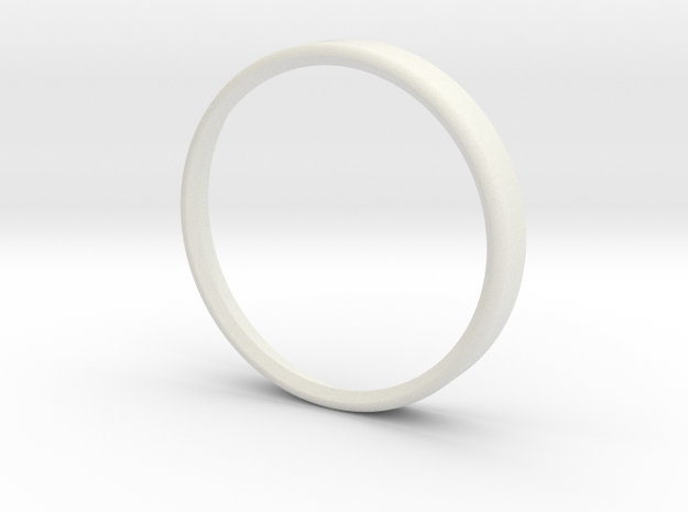 Turn And Slip Bezell in White Natural Versatile Plastic