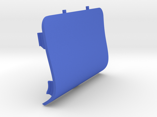Front-Left Saab Jack Point Cover in Blue Processed Versatile Plastic