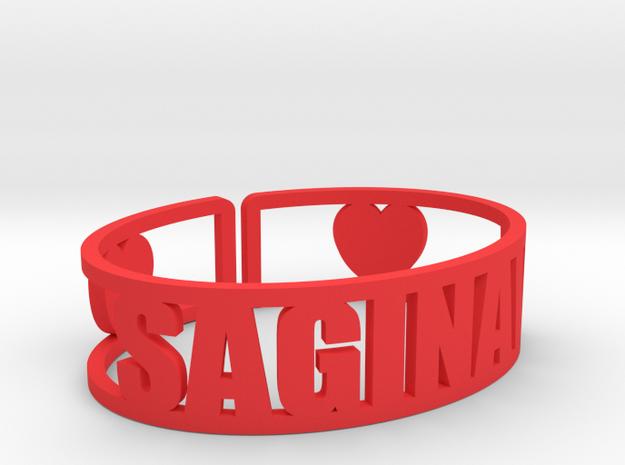 Saginaw Cuff in Red Processed Versatile Plastic