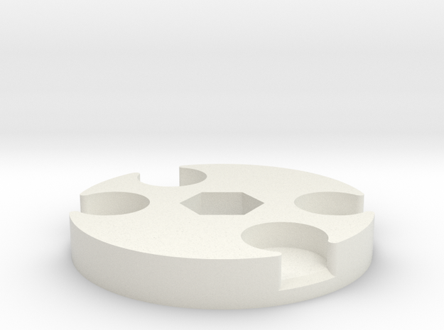 Pad Pod/Dolly Spacer in White Strong & Flexible