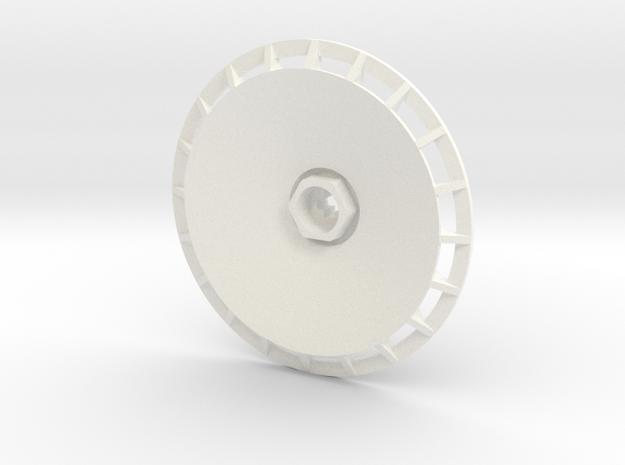 BBS Wheel Cover/Fan in White Processed Versatile Plastic