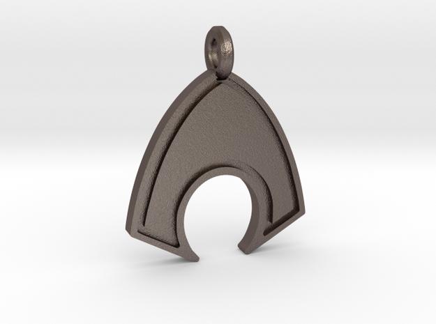 Aquaman Keychain in Polished Bronzed Silver Steel