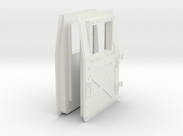 1:6 scale Hasbro HMMWV Doors in White Natural Versatile Plastic