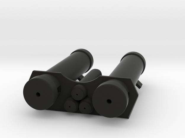 E-11 Power Cylinders v1.1 Profile A in Black Natural Versatile Plastic