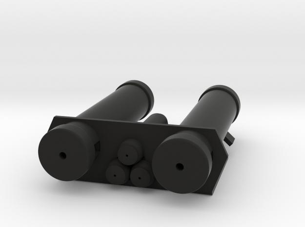 E-11 Power Cylinders v1.1 Profile C in Black Natural Versatile Plastic