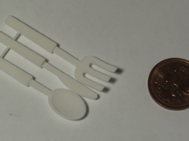 BJD Cutlery Display Set in White Strong & Flexible