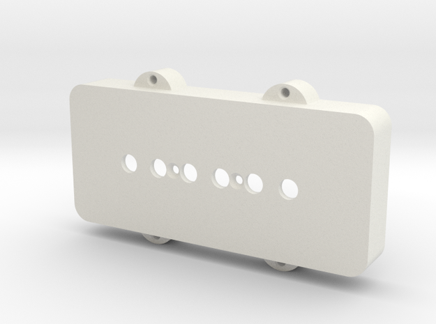 Jazzmaster Pickup Cover - P-90 Mount in White Strong & Flexible