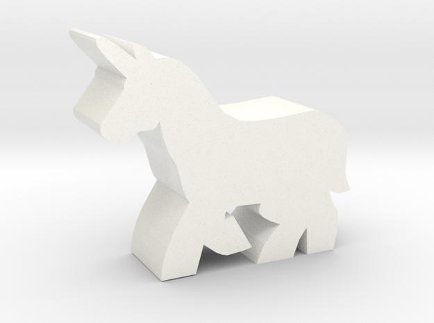 Game Piece, Unicorn in White Processed Versatile Plastic