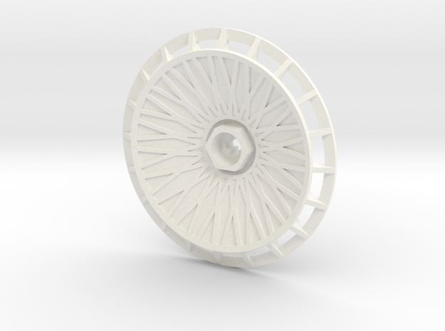 BBS Wheel Cover/Fan With Spokes in White Strong & Flexible Polished