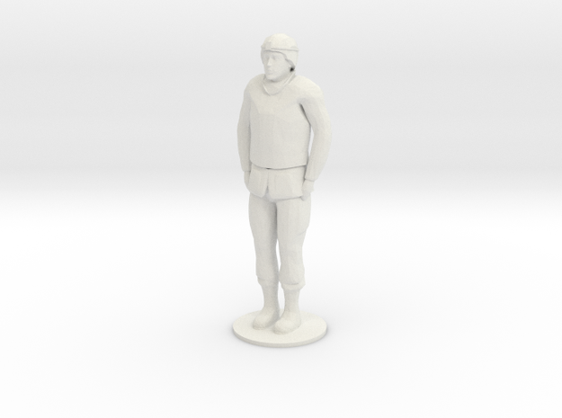 Male Soldier Standing in White Strong & Flexible