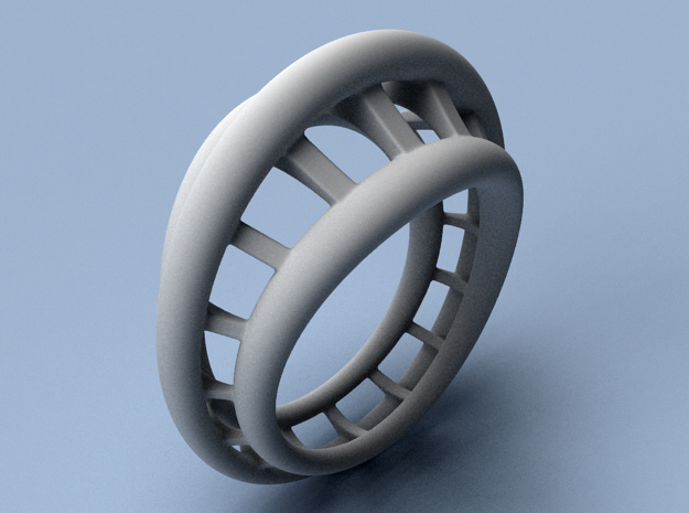 Roller Coaster Ring - Size 12 (21.49 mm) in Polished Silver