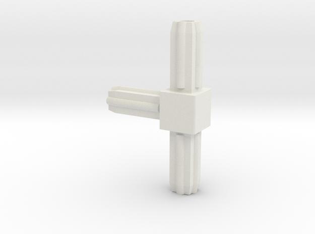 Square Tube 270 in White Natural Versatile Plastic