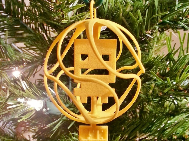 Turbo Buddy Ball Ornament in Yellow Processed Versatile Plastic