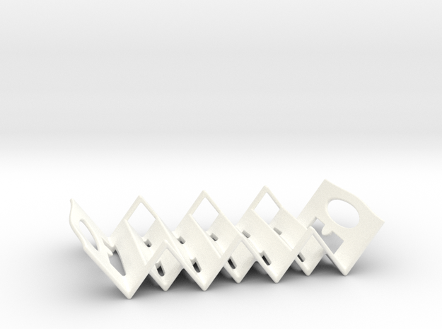 Triangular Soap Holder in White Strong & Flexible Polished